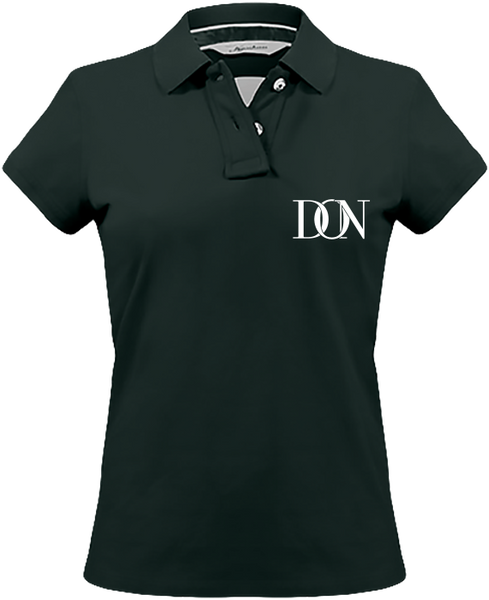 Womens Official Don Signature Vintage Polo-Shirt - Vintage Charcoal / Xs - Femme>Polos