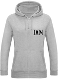 Womens Official Don Signature Zipped Hoodie - Heather Grey / Xs - Femme>Sweatshirts