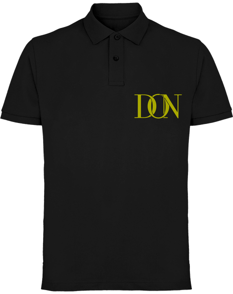 Mens Official Don Signature Gold Polo-Shirt - Black / S - Homme>Polos