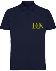 Mens Official Don Signature Gold Polo-Shirt - Navy / S - Homme>Polos