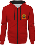 Mens Official Don Lions Pride Two-Tone Jacket - Fire Red / Jet Black / S - Unisexe>Sweatshirts