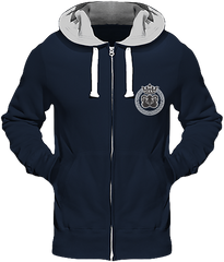 Mens Official Don Lions Pride Chunky Hoodie - New French Navy (Grey Inner) / S - Homme>Sweatshirts
