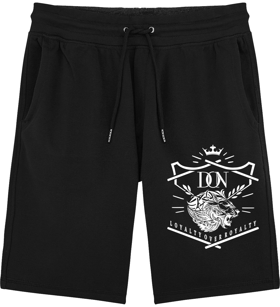 Official Don Loyalty Over Royalty Shorts - Black / S - Homme>Vêtements De Sport