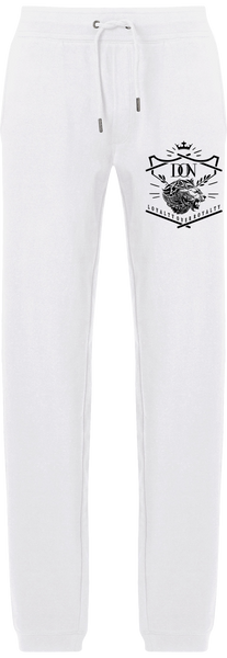 Mens Official Don Loyalty Over Royalty White Joggers - White / S - Homme>Vêtements De Sport