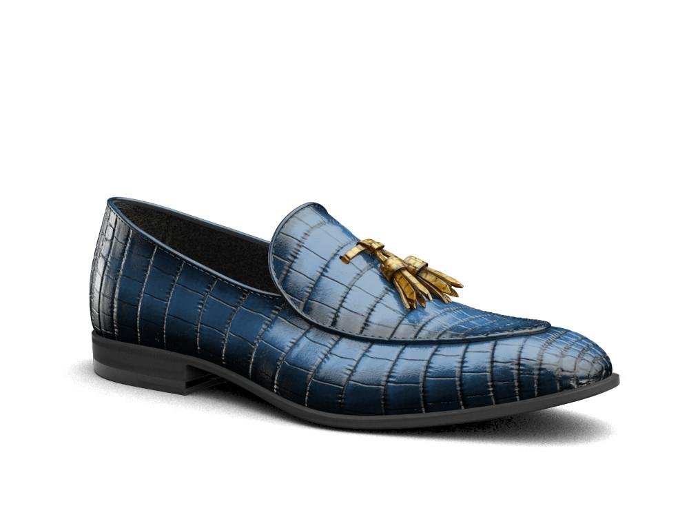 Claudio X Don Genuine Nile Crocodile Leather Loafers - Shoes