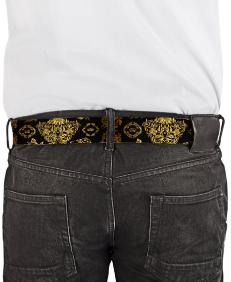 Official Don Plutus Leather Golden Crown Belt