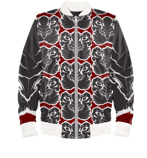 Mens Official Don Red&white Wealth Soft-Shell Satin Jacket