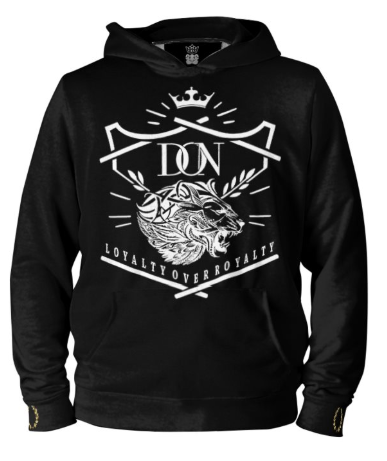 Mens Official Don Loyalty Over Royalty Silk Hoodie