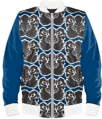 Mens Official Don Blue &white Wealth Soft-Shell Satin Jacket
