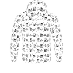 Official DON Mens White Gold Print Hoodie