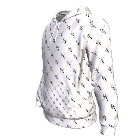 Men's Official DON Signature Print White Hoodie