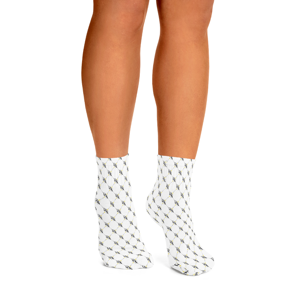 Official DON Signature White Print Ankle Socks