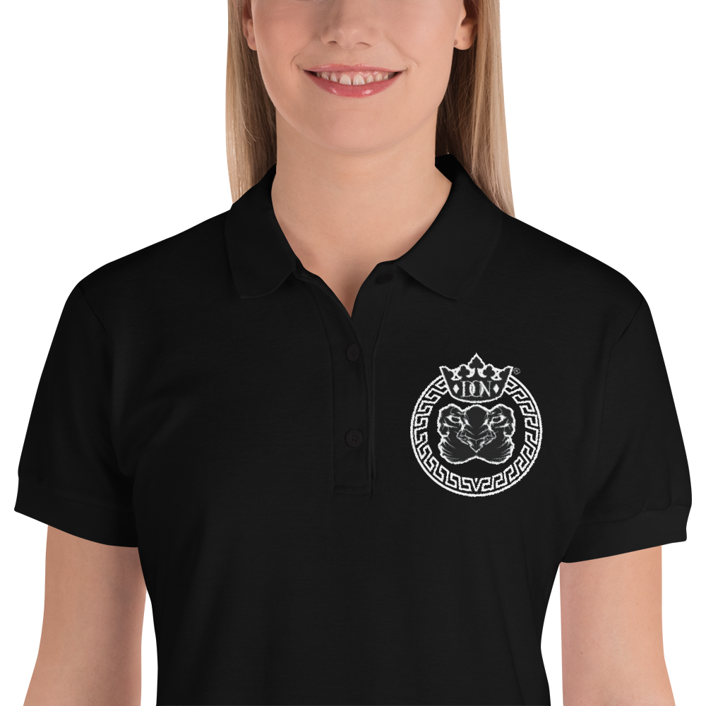 Embroidered Womens Polo Shirt - S