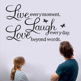 Стикер за стена за дневна, спалня декорация за дома Live Laugh Love