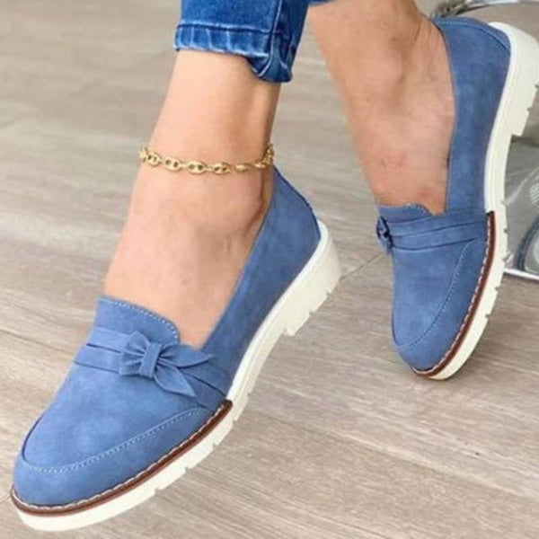 Обувки за жени Leisure Pure Color Loafers