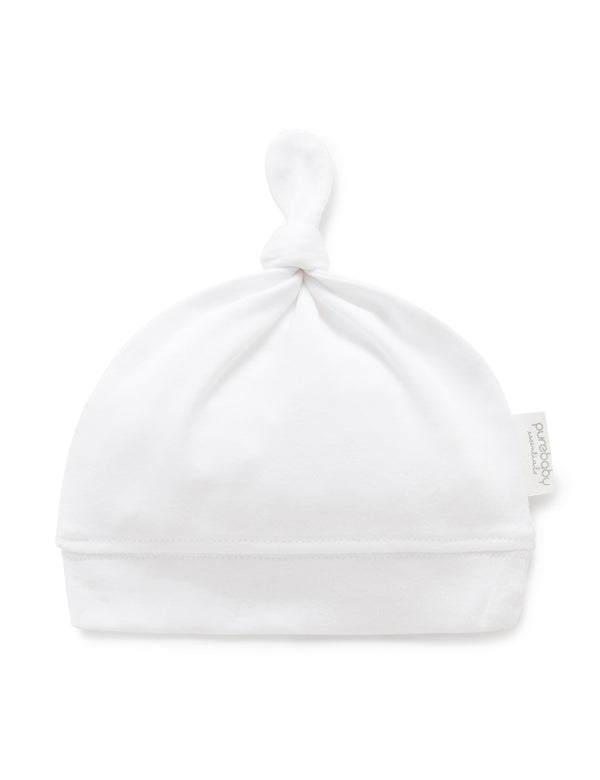 Suite Set x Purebaby Top Knot hat