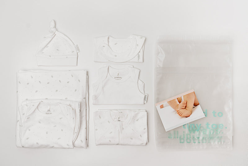 Suite Set + Birth Suite Purebaby Newborn Hospital Pack