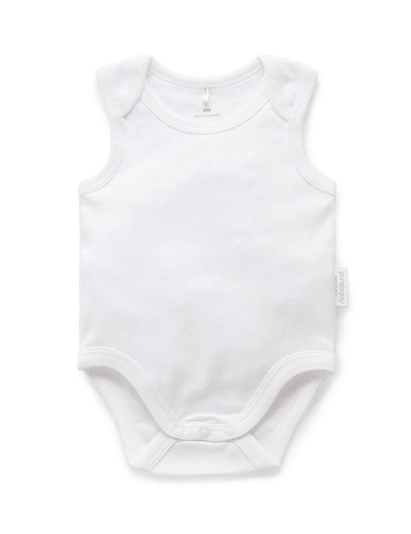 Suite Set x Purebaby Button Bottom singlet