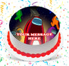 Among Us Edible Image Cake Topper Personalized Birthday Sheet Custom Frosting Round Circle