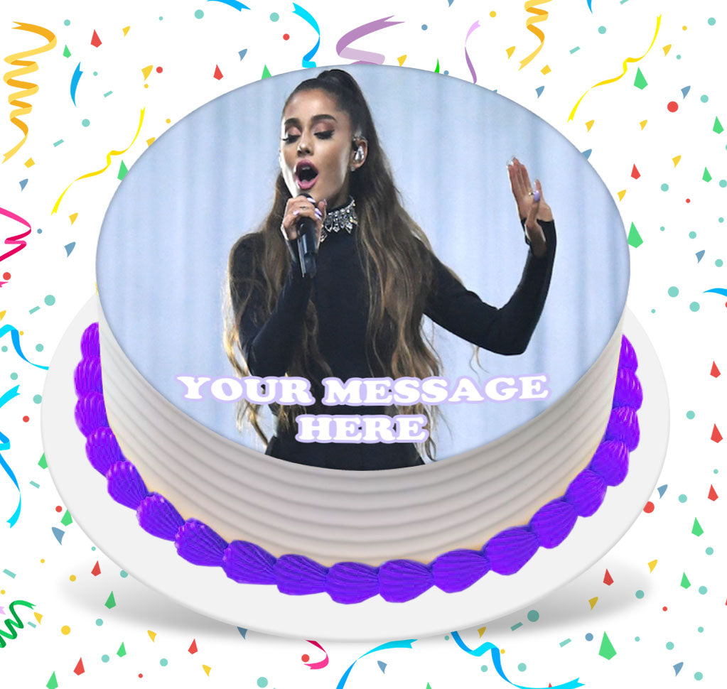 Wondrous Ariana Grande Edible Image Cake Topper Personalized Birthday Sheet Birthday Cards Printable Benkemecafe Filternl