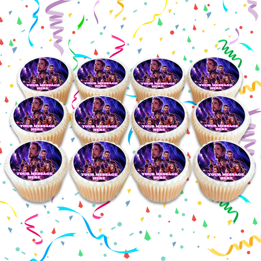 Avengers Endgame Edible Cupcake Toppers (12 Images) Cake ...