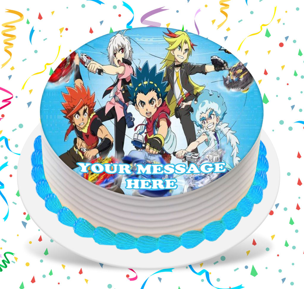 Fine Beyblade Edible Image Cake Topper Personalized Birthday Sheet Birthday Cards Printable Benkemecafe Filternl