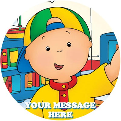 Caillou Edible Image Cake Topper Personalized Birthday Sheet Custom Frosting Round Circle