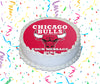 Chicago Bulls Edible Image Cake Topper Personalized Birthday Sheet Custom Frosting Round Circle