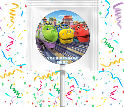 Chuggington Lollipops Party Favors Personalized Suckers 12 Pcs