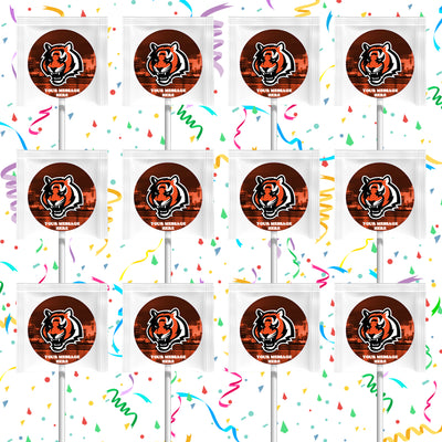 Cincinnati Bengals Lollipops Party Favors Personalized Suckers 12 Pcs