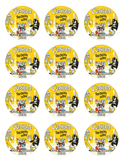 Cuphead Edible Cupcake Toppers (12 Images) Cake Image Icing Sugar Sheet
