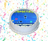 Geometry Dash Edible Image Cake Topper Personalized Birthday Sheet Custom Frosting Round Circle