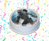 Halo Edible Image Cake Topper Personalized Birthday Sheet Custom Frosting Round Circle