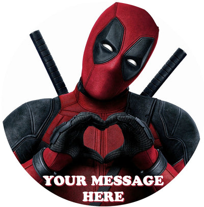 Deadpool Edible Image Cake Topper Personalized Birthday Sheet Custom Frosting Round Circle