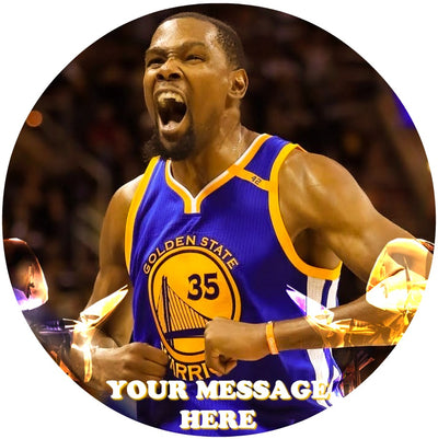 Kevin Durant Edible Image Cake Topper Personalized Birthday Sheet Custom Frosting Round Circle