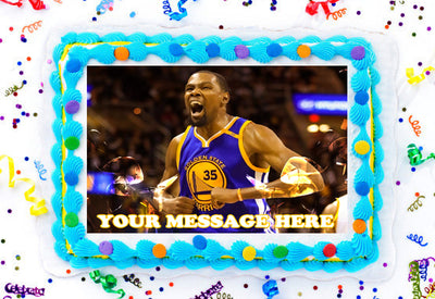Kevin Durant Edible Image Cake Topper Personalized Birthday Sheet Decoration Custom Party Frosting Transfer Fondant