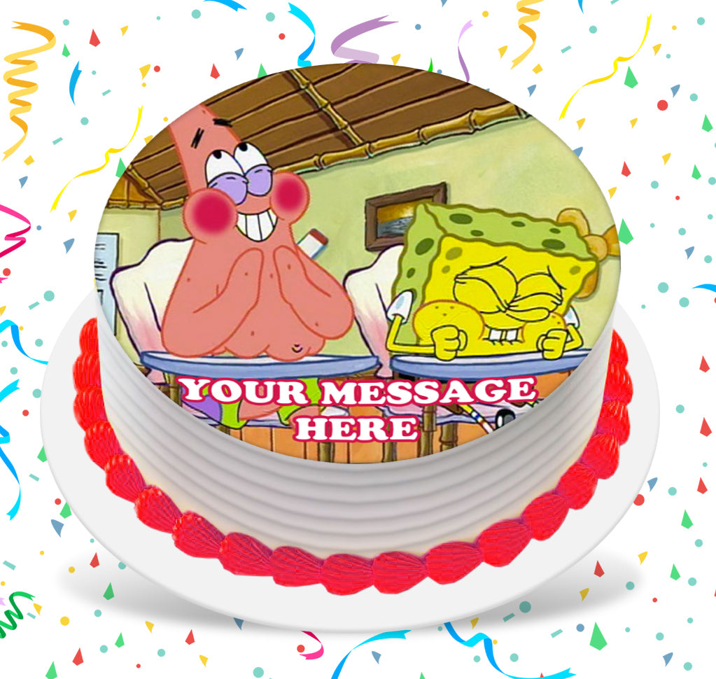 Brilliant Spongebob Squarepants Whats Funnier Than 24 Edible Image Cake Funny Birthday Cards Online Inifofree Goldxyz