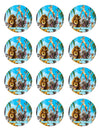 Madagascar Edible Cupcake Toppers (12 Images) Cake Image Icing Sugar Sheet