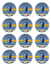 Memphis Grizzlies Edible Cupcake Toppers (12 Images) Cake Image Icing Sugar Sheet