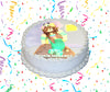 Minecraft Edible Image Cake Topper Personalized Birthday Sheet Custom Frosting Round Circle