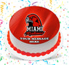 Miami Redhawks Edible Image Cake Topper Personalized Birthday Sheet Custom Frosting Round Circle