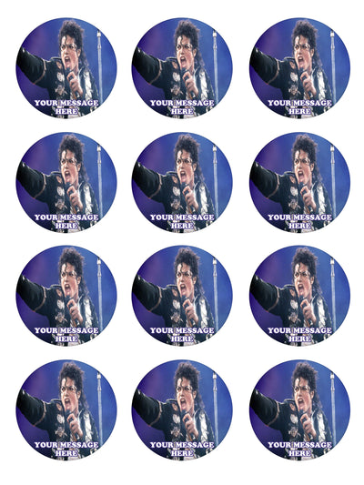 Michael Jackson Edible Cupcake Toppers (12 Images) Cake Image Icing Sugar Sheet