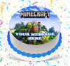 Minecraft Edible Cake Topper Image Photo Picture
