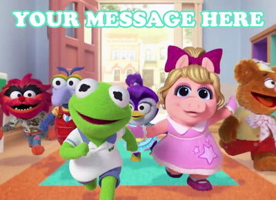 Muppet Babies Edible Image Cake Topper Personalized Birthday Sheet Decoration Custom Party Frosting Transfer Fondant