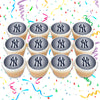 New York Yankees Edible Cupcake Toppers (12 Images) Cake Image Icing Sugar Sheet