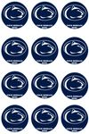 Penn State Nittany Lions Edible Cupcake Toppers (12 Images) Cake Image Icing Sugar Sheet Edible Cake Images