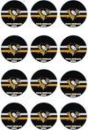 Pittsburgh Penguins Edible Cupcake Toppers (12 Images) Cake Image Icing Sugar Sheet Edible Cake Images