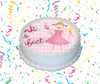 Pinkalicious Edible Image Cake Topper Personalized Birthday Sheet Custom Frosting Round Circle