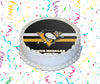 Pittsburgh Penguins Edible Image Cake Topper Personalized Birthday Sheet Custom Frosting Round Circle