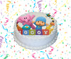 Pocoyo Edible Image Cake Topper Personalized Birthday Sheet Custom Frosting Round Circle